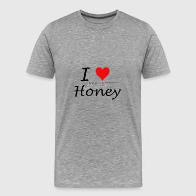 I Love Honey - Männer Premium T-Shirt