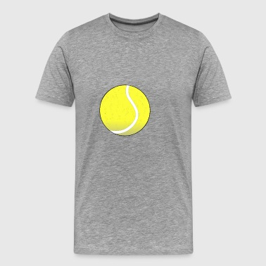 Gele tennisbal in het chique design - Mannen Premium T-shirt