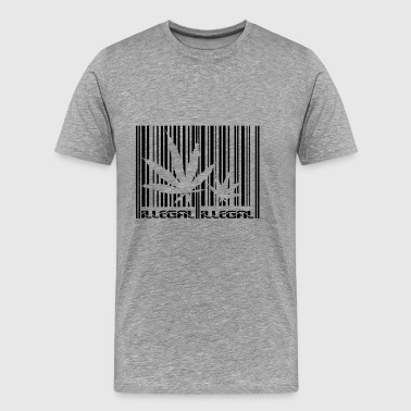 Marijuana Canabis Legal illegal barcode scan - Men's Premium T-Shirt