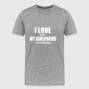 girlfriend videogames fun - Männer Premium T-Shirt