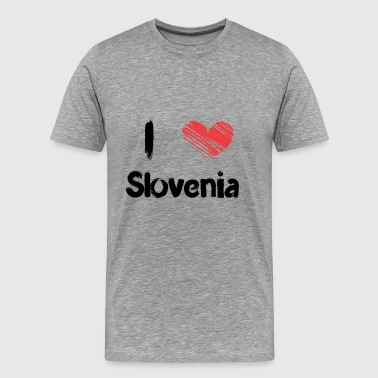 I love Slovenia - Men's Premium T-Shirt