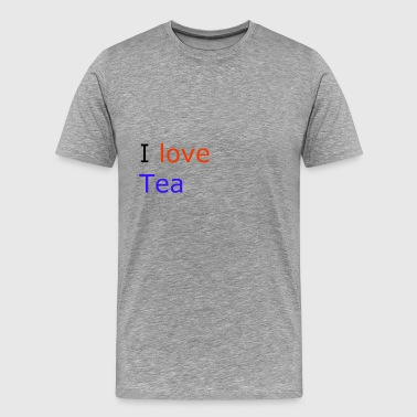 i love tea - Men's Premium T-Shirt