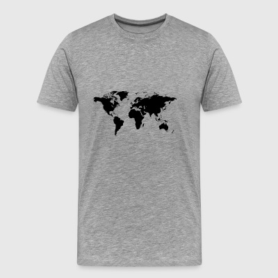map of the world - Men's Premium T-Shirt