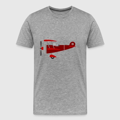 Plane red - Men's Premium T-Shirt