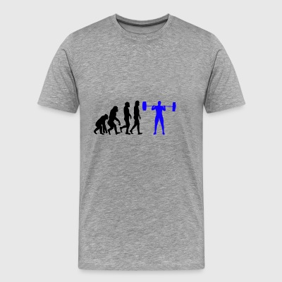 Evolution - Bodybuilder T-shirt gave - Herre premium T-shirt