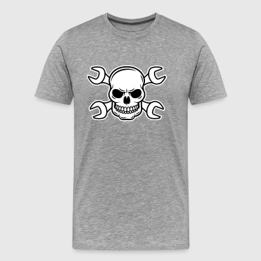 Mechanic Skull 2c - Men's Premium T-Shirt