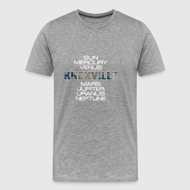 Solsystem Planet Earth Knoxville Gift - Herre premium T-shirt