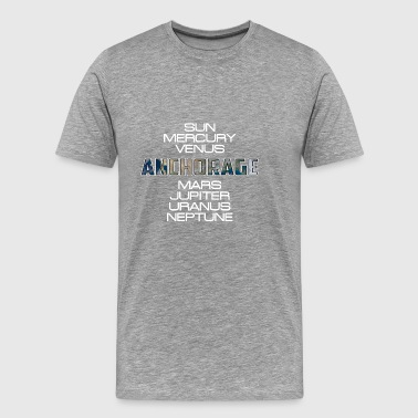 Solar System Planet Earth Anchorage Gift - Men's Premium T-Shirt