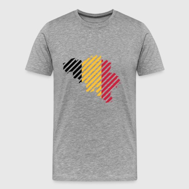 Striped Belgium country - Men's Premium T-Shirt