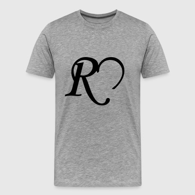 Heart letter R - Men's Premium T-Shirt