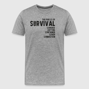 5Cs or Survival List - Men's Premium T-Shirt