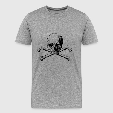 Skull with crossbones in black - Men's Premium T-Shirt