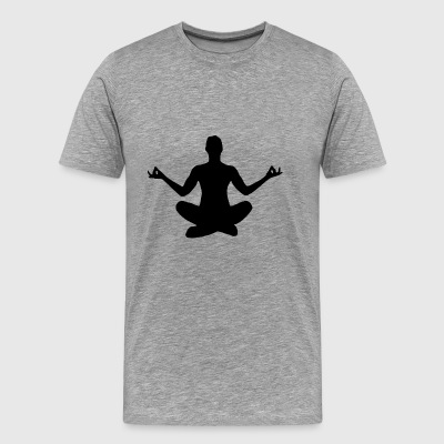 yoga - Premium T-skjorte for menn