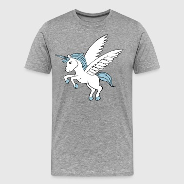 Unicorn with wings - Men's Premium T-Shirt