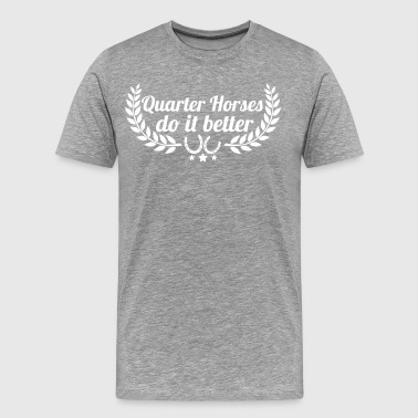 Quarter Horses - Men's Premium T-Shirt