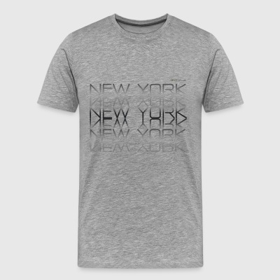 Space Atlas Tee New York New York - Men's Premium T-Shirt