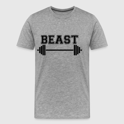 Fä. Pappa Beast. Weightlifting presenter. Var stark - Premium-T-shirt herr