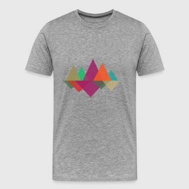 Hipster Mountains - Mannen Premium T-shirt