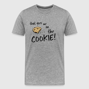 that's me on the biscuit cookie monster dinglish - Men's Premium T-Shirt