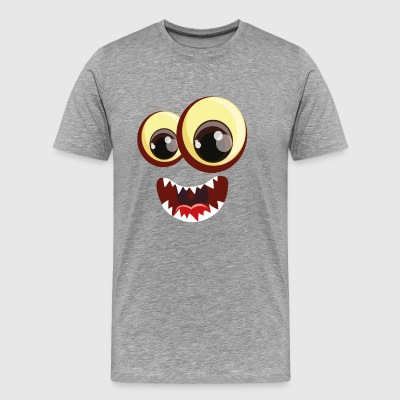 Two monster eyes with mouth - Men's Premium T-Shirt