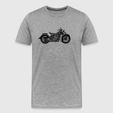 Chopper / Bobber Motorcycle 03_black - Men's Premium T-Shirt