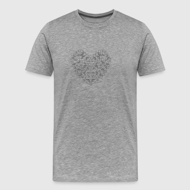 T-SHIRT LOVE MY BIKE - Herre premium T-shirt