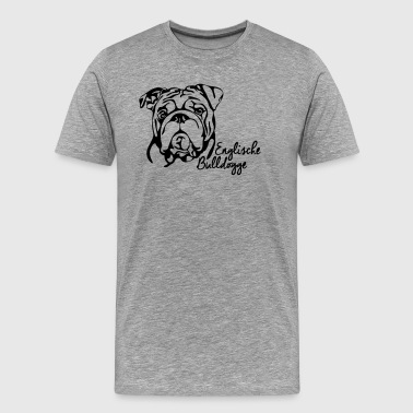 ENGLISH BULLDOG PORTRAIT - Men's Premium T-Shirt