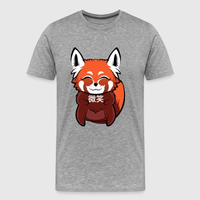 微笑 (Smile) Red Panda - Premium T-skjorte for menn