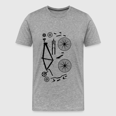 Bicycle Parts - Mannen Premium T-shirt