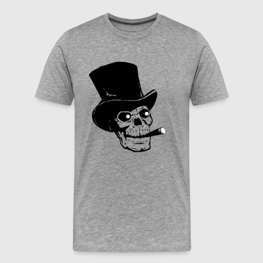 Skull with hat and cigar - Men's Premium T-Shirt