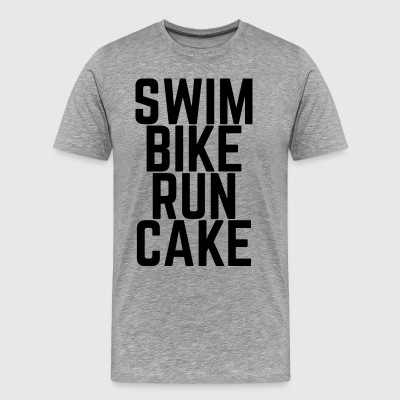 Swim Bike Run kage! - Herre premium T-shirt