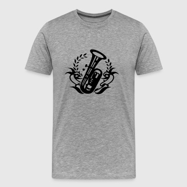 Tuba wind instrument for marching band - Men's Premium T-Shirt