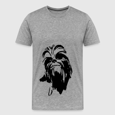 chewbacca monster fur hair star boyfriend - Men's Premium T-Shirt