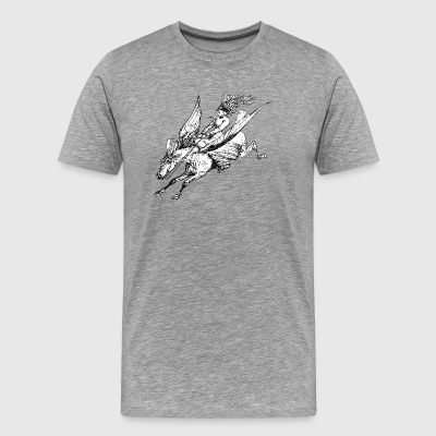 Pegasus Flight - Herre premium T-shirt