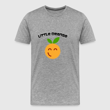 Little orange smiley laugh motive - Men's Premium T-Shirt