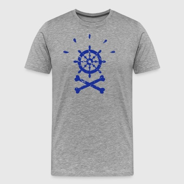 Pirate steering wheel - Men's Premium T-Shirt