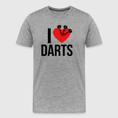 I LOVE DARTS BLACK - Premium T-skjorte for menn