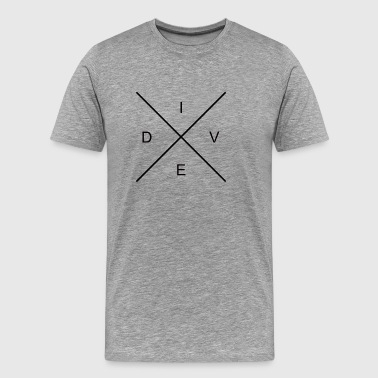Hipster Cross Dive - T-shirt Premium Homme