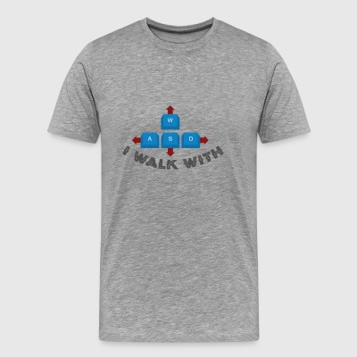 Gamer WASD i walk with - Männer Premium T-Shirt