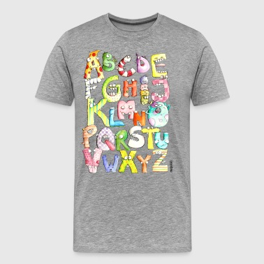 Monster Alphabet - Männer Premium T-Shirt