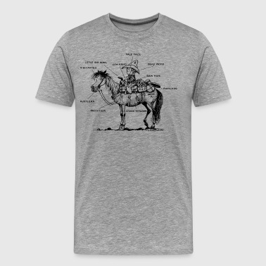 Thelwell 'Learning Western riding' - Men's Premium T-Shirt