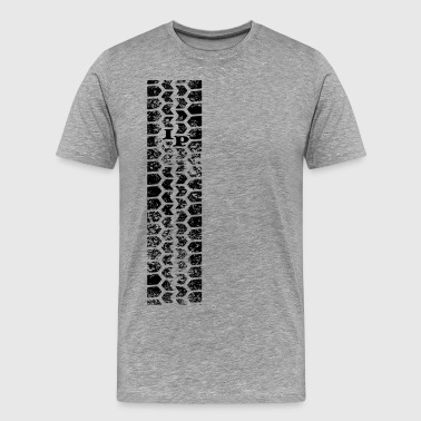 Tire track - Men's Premium T-Shirt