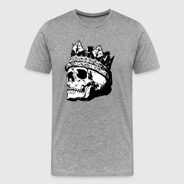 King skull with crown gift idea - Men's Premium T-Shirt