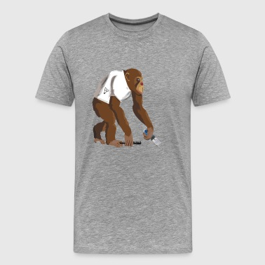 Monkey barber - Men's Premium T-Shirt