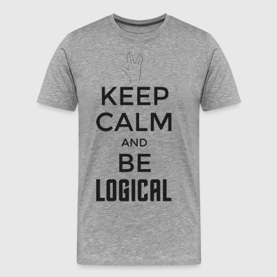 Keep Calm and be logical (dark) - Men's Premium T-Shirt