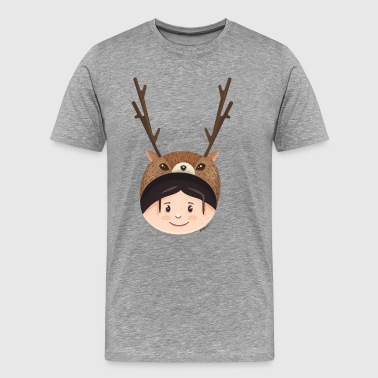 GIRL DEER - Premium-T-shirt herr