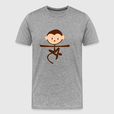 affe monkey ape simian animal tiere1 - Männer Premium T-Shirt