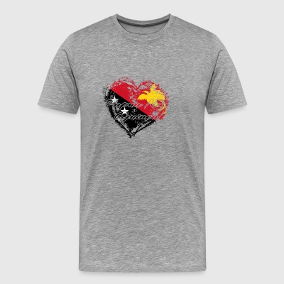 HJEMME COUNTRY ROOTS GIFT LOVE Papua Ny-Guinea - Premium T-skjorte for menn