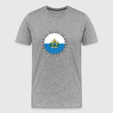 Love ECG heartbeat home holiday Roots San Marin - Men's Premium T-Shirt