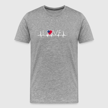 home roots queen love from heart Samoa png - Men's Premium T-Shirt
